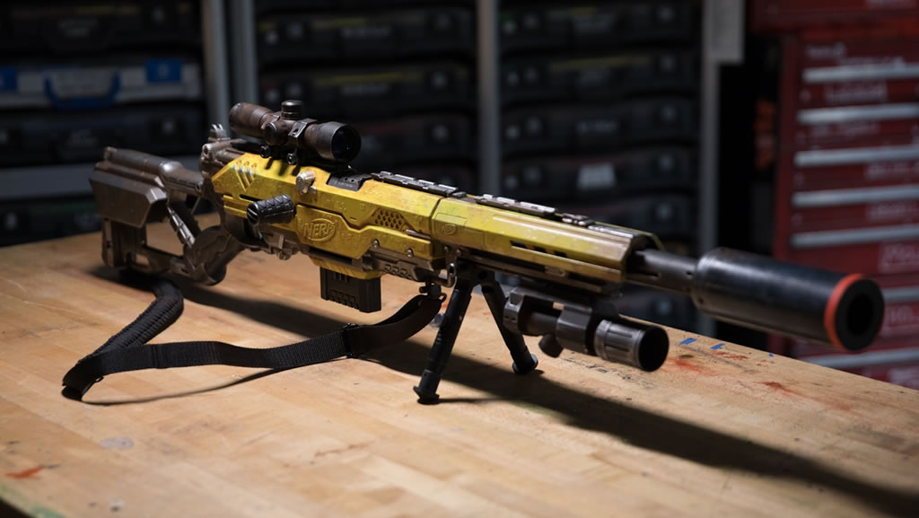 Adam Savage Builds An Awesome Custom Nerf Rifle
