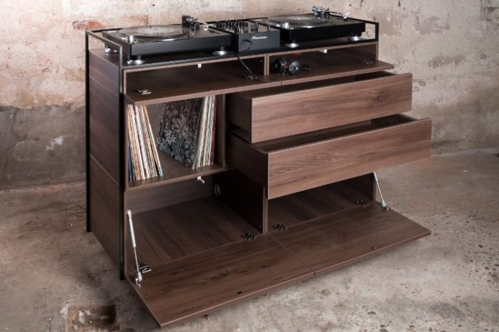 Elegant Selectors DJ Cabinet Now Comes In Walnut 7