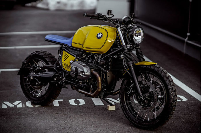 Superb Yellow Baron Motorcycle By NCT 4
