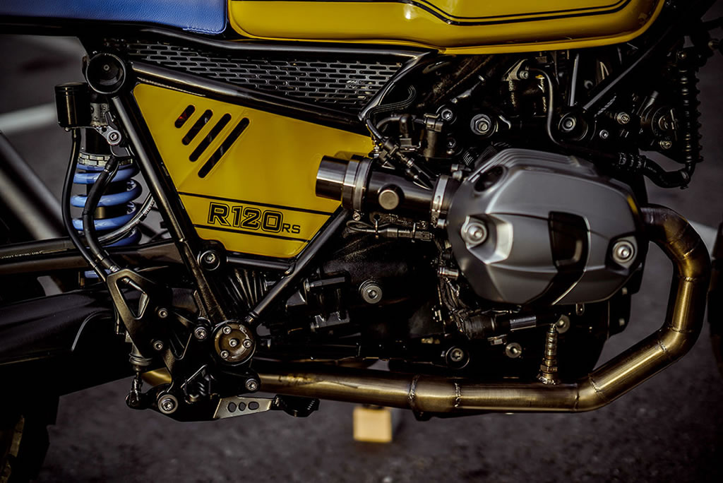 Superb Yellow Baron Motorcycle By NCT 7