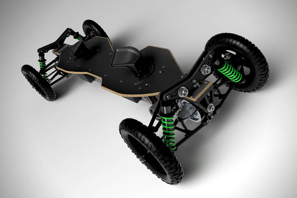 BajaBoard Is An Awesome Off-Road Electric Skateboard 1