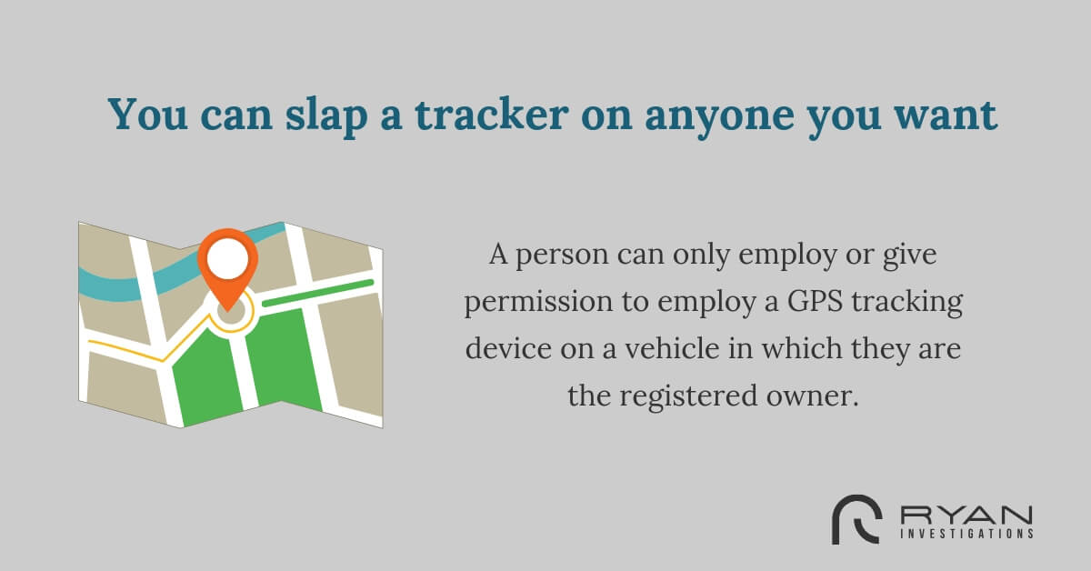 You can slap a tracker on anyone you want