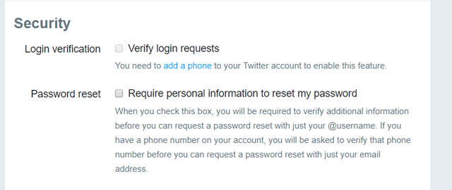 twitter security features to protect accounts