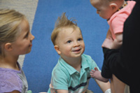 Evan received cleft lip and palate care at Shriners Hospitals for Children in Chicago.