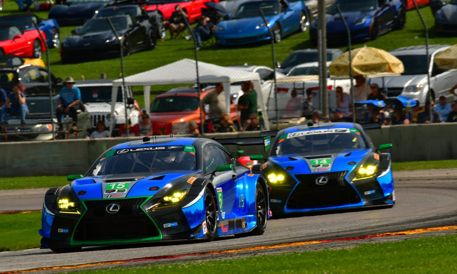 RC F GT3s Ready to Race at VIR
