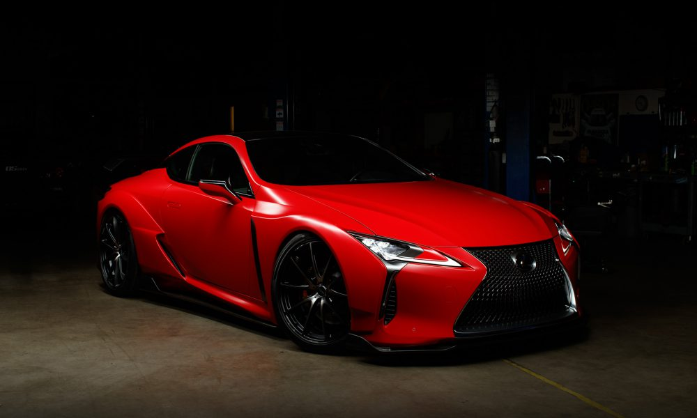 2017 SEMA LC 500 Carmine Wrap Beyond Marketing