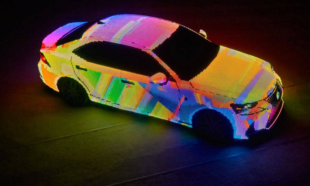 Lexus Unveils LED-Covered LIT IS with Premiere of Dua Lipa's -Be the One- Music Video