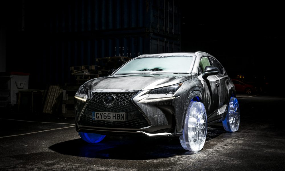 Lexus NX Rides on the World's Coolest Wheels – Crafted in Solid Ice