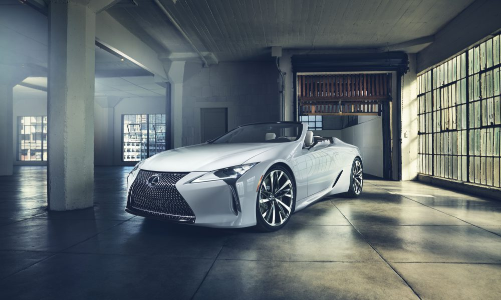 Lexus LC Convertible Concept Makes World Debut in Detroit