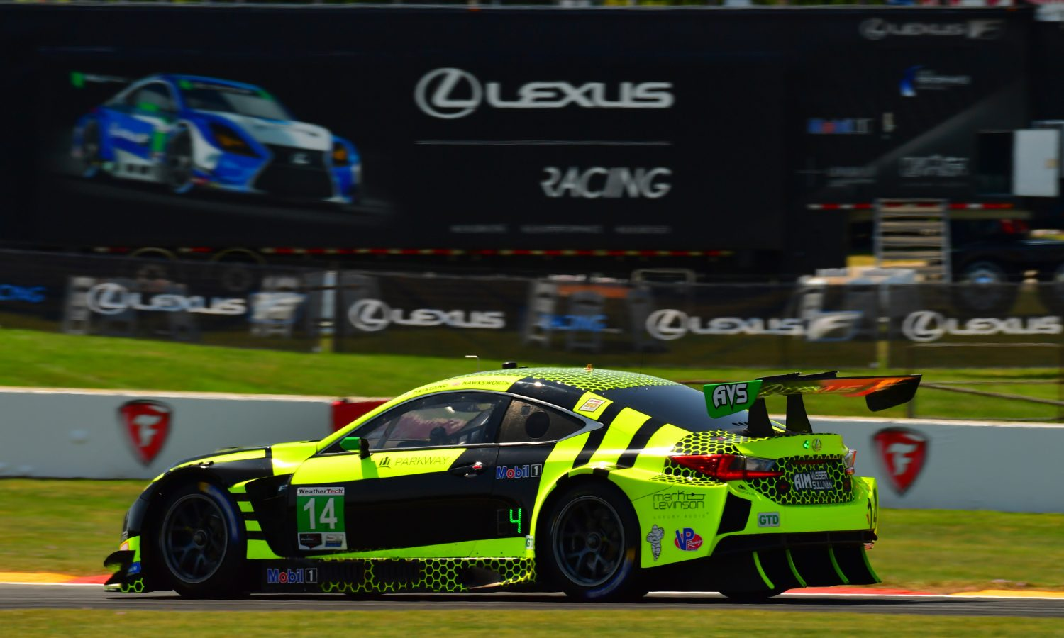 Two Lexus RC F GT3 Top-10s at Road America
