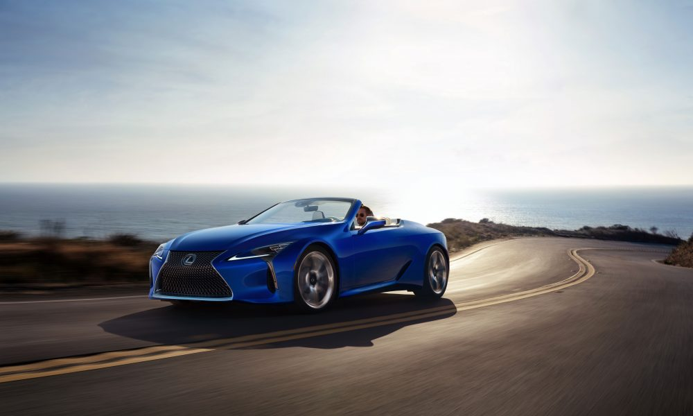 Lanzamiento mundial del Lexus LC 500 Convertible 2021 en el International Auto Show 2019 de Los Angeles