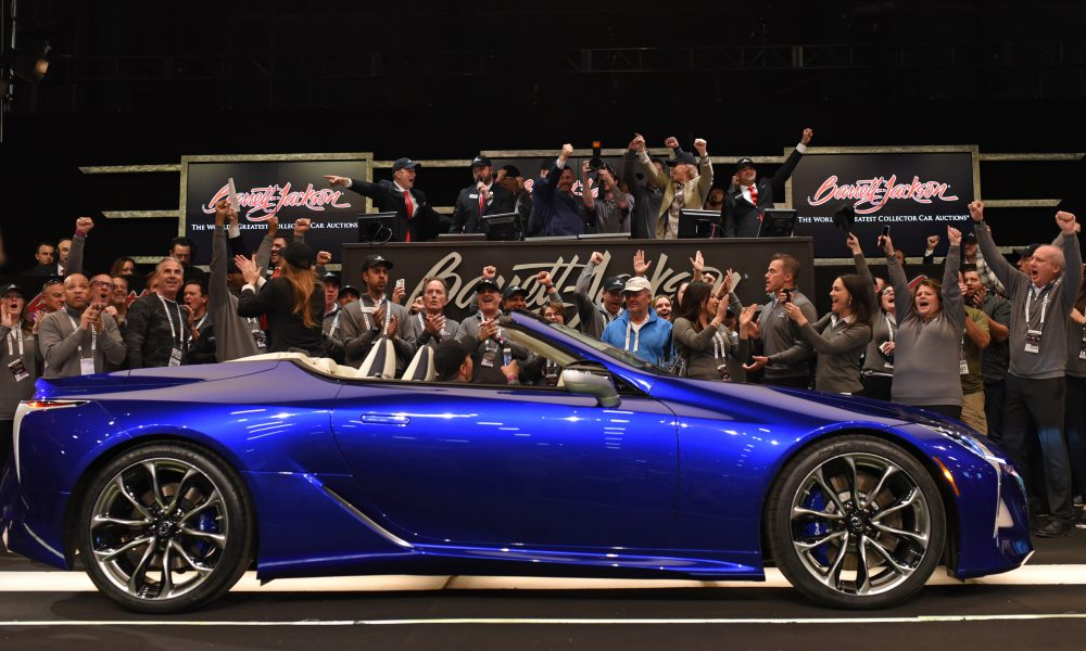 UNIQUE LEXUS LC 500 CONVERTIBLE RAISES 2 MILLION FOR CHARITY AT BARRETT-JACKSON