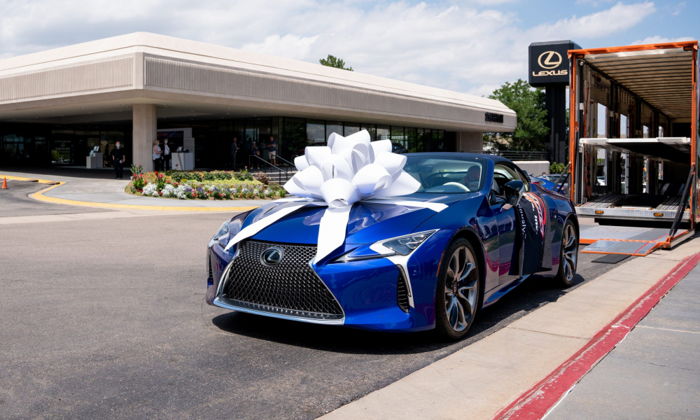 Special Delivery: 2 Million-Dollar 2021 LC 500 Convertible Auctioned for Charity Rolls Home