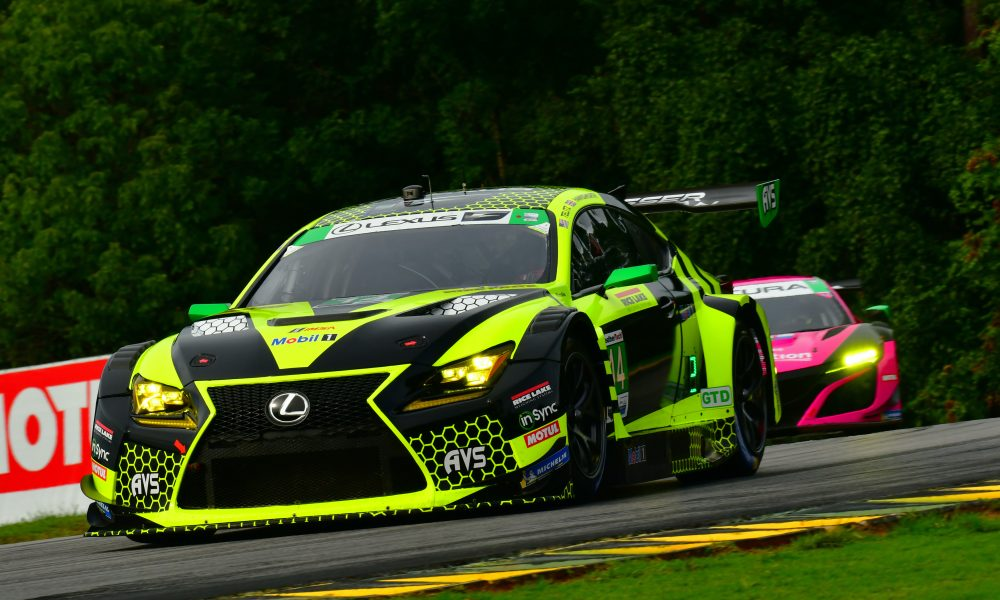 Lexus RC F GT3 Top-Five Finish at VIR