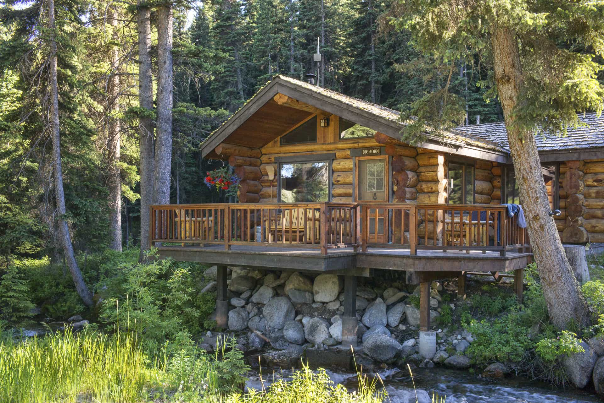 The beautiful Bighorn Cabin in the summer