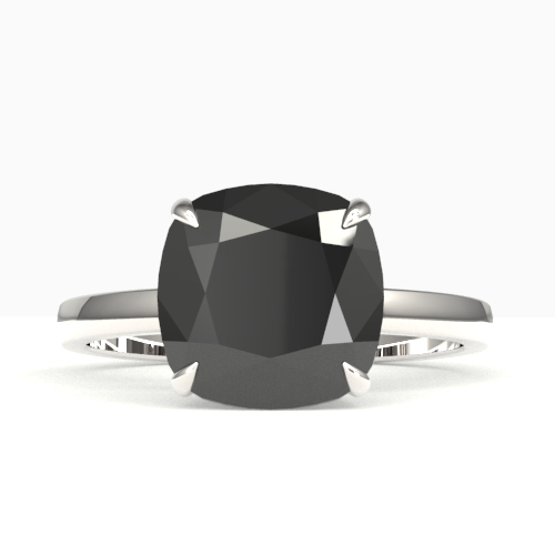 6 CTW BLACK VS/SI DIAMOND DESIGNER INSPIRED ENGAGMENT RNG 18K
