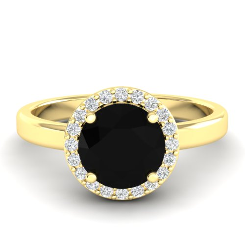 2 CTW HALO VS/SI DIAMOND CERTIFIED MICRO PAVE RING 18K