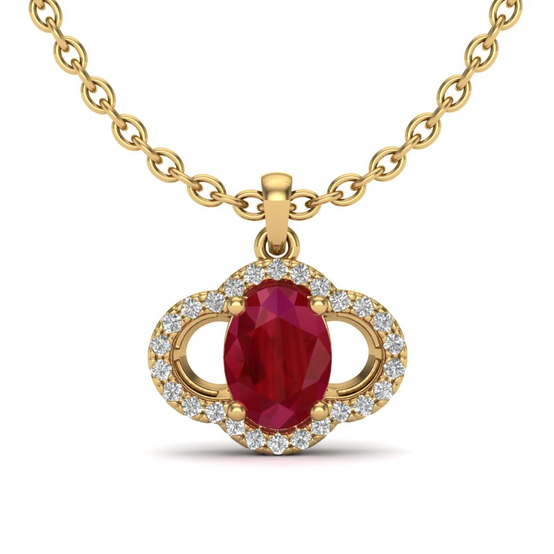 2 CTW RUBY & MICRO PAVE VS/SI DIAMOND CERTIFIED NECKLACE