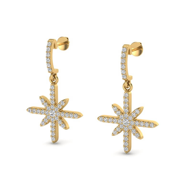 .75 CTW MICRO PAVE VS/SI DIAMOND CERTIFIED EARRING 18K