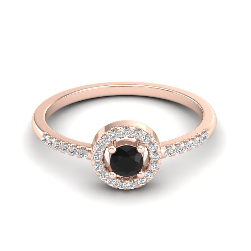 .50 CTW MICRO PAVE VS/SI DIAMOND CERTIFIED RING SOLITAIRE HALO 14K