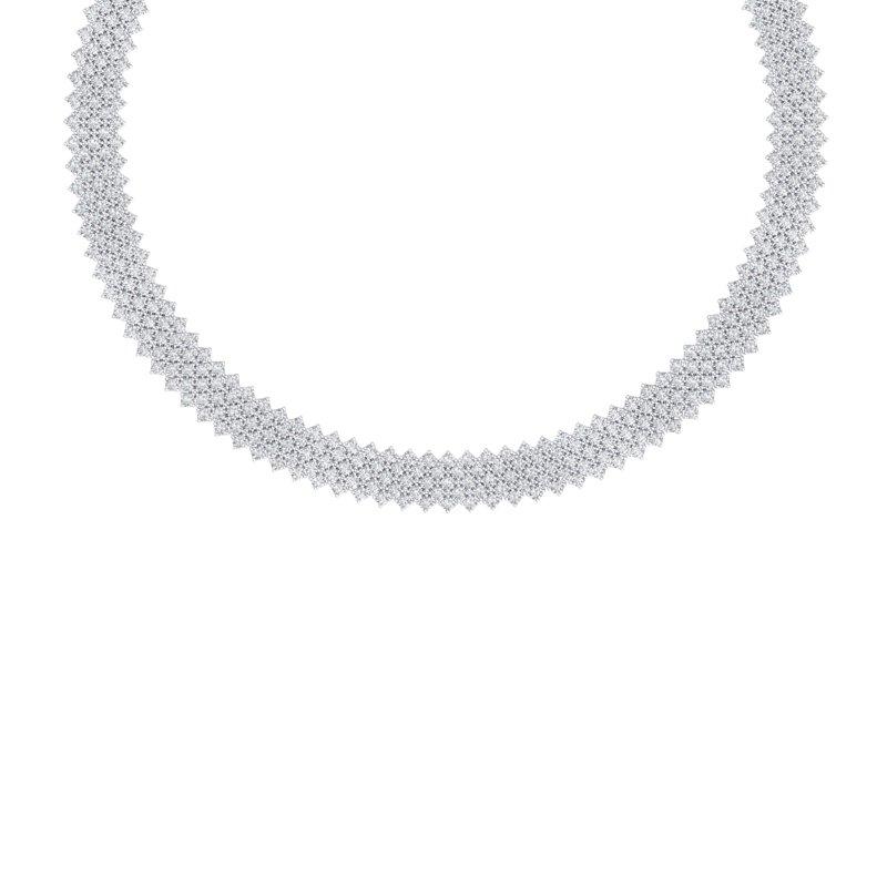 40 CTW CERTIFIED VS/SI DIAMOND NECKALCE 18K WHITE GOLD