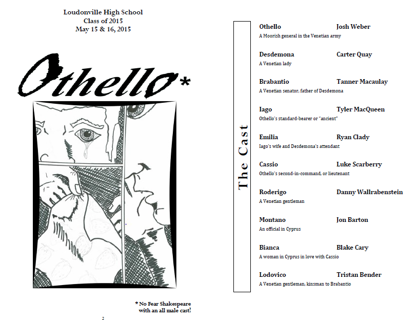 Othello picture 999 program cover and cast
