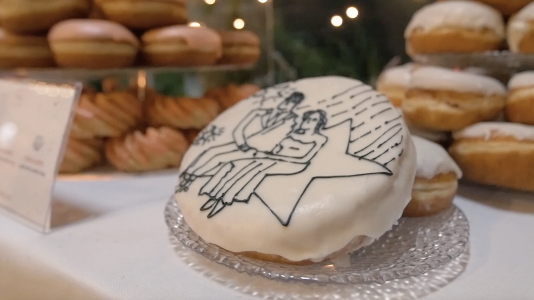 After The World's Cutest Donut Proposal, This Couple Had The Most Epic Donut Display at Their Wedding
