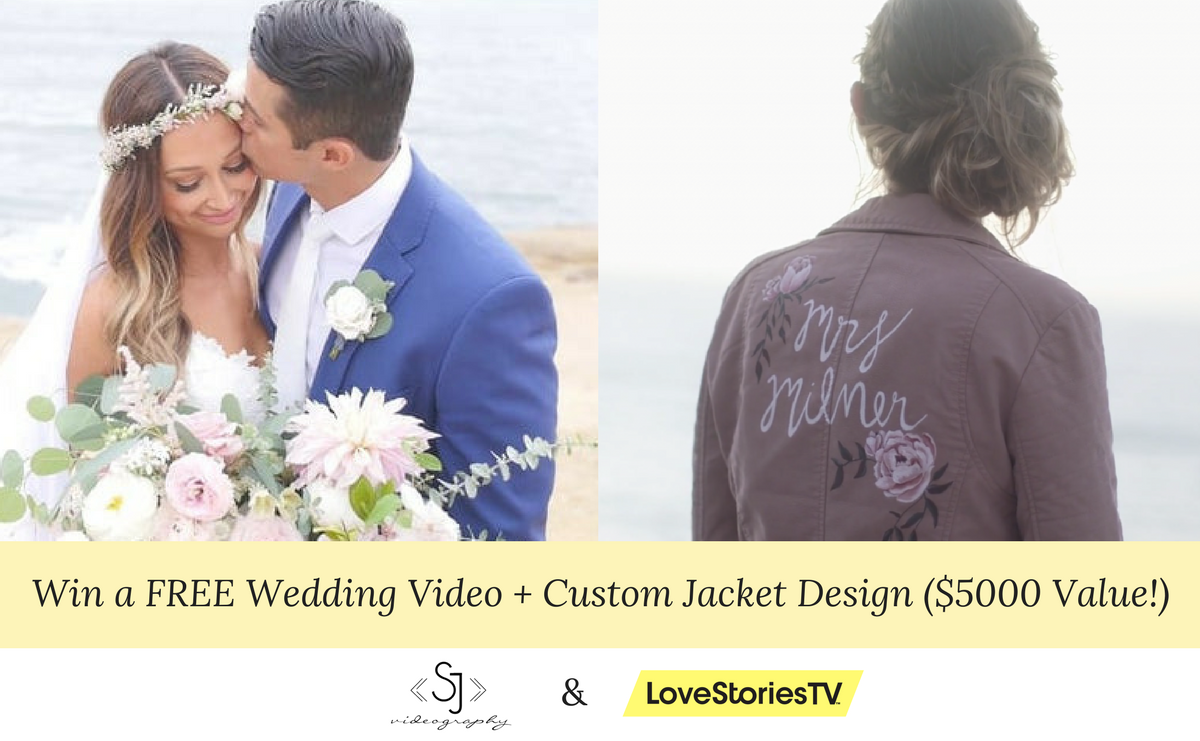 Win a FREE Wedding Video + Custom Jacket Design by SJ Videography ($5000 Value!)