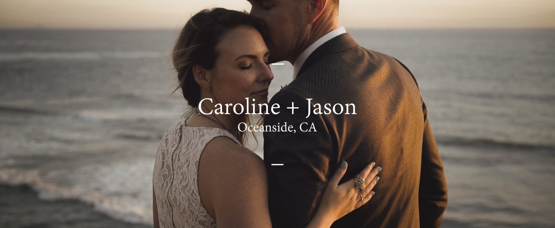 Caroline + Jason | Oceanside, California