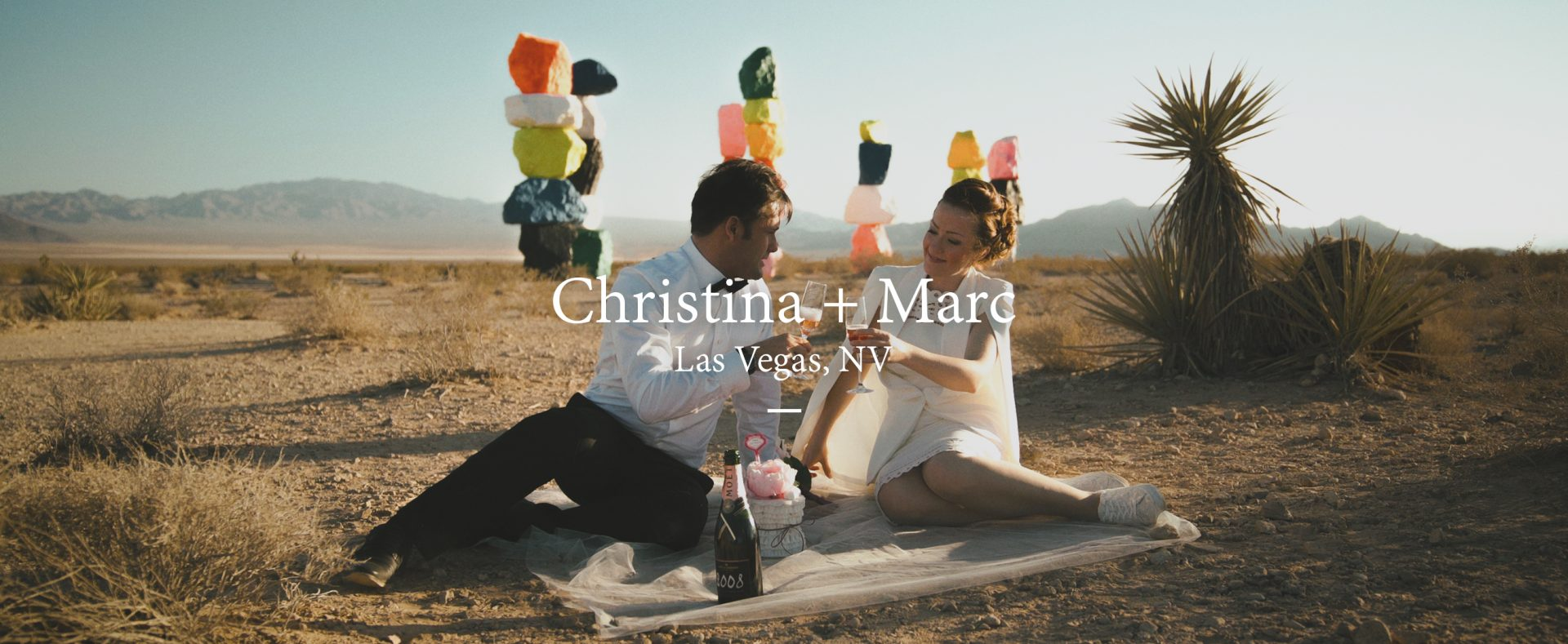 Christina + Marc | Las Vegas, Nevada | Little White Wedding Chapel
