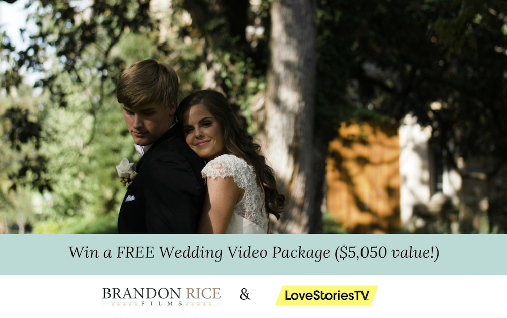 Win a FREE Wedding Video by Brandon Rice Films ($5,050 value!)