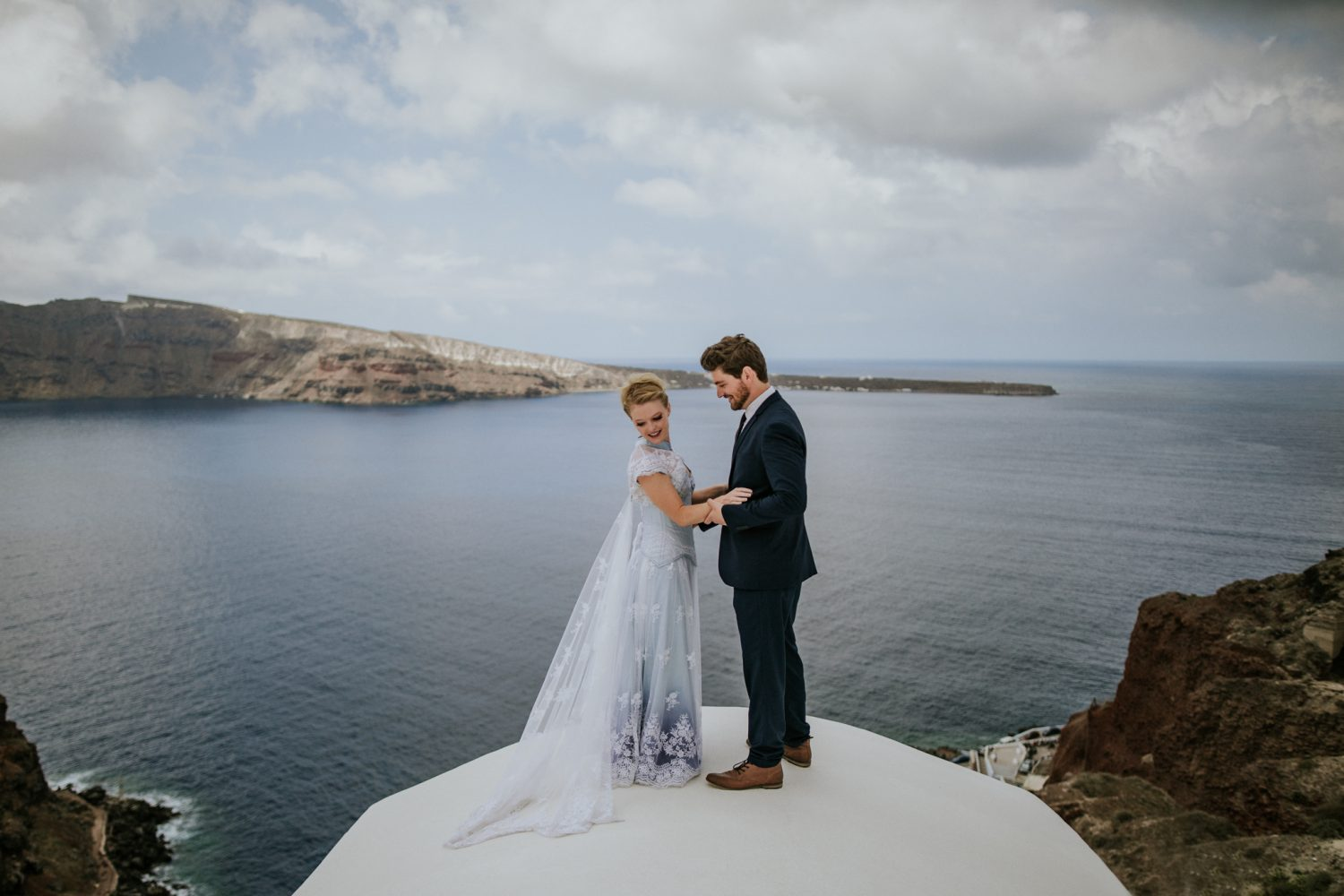 Whitney + Chris | Santorini, Greece | Oia Airbnb
