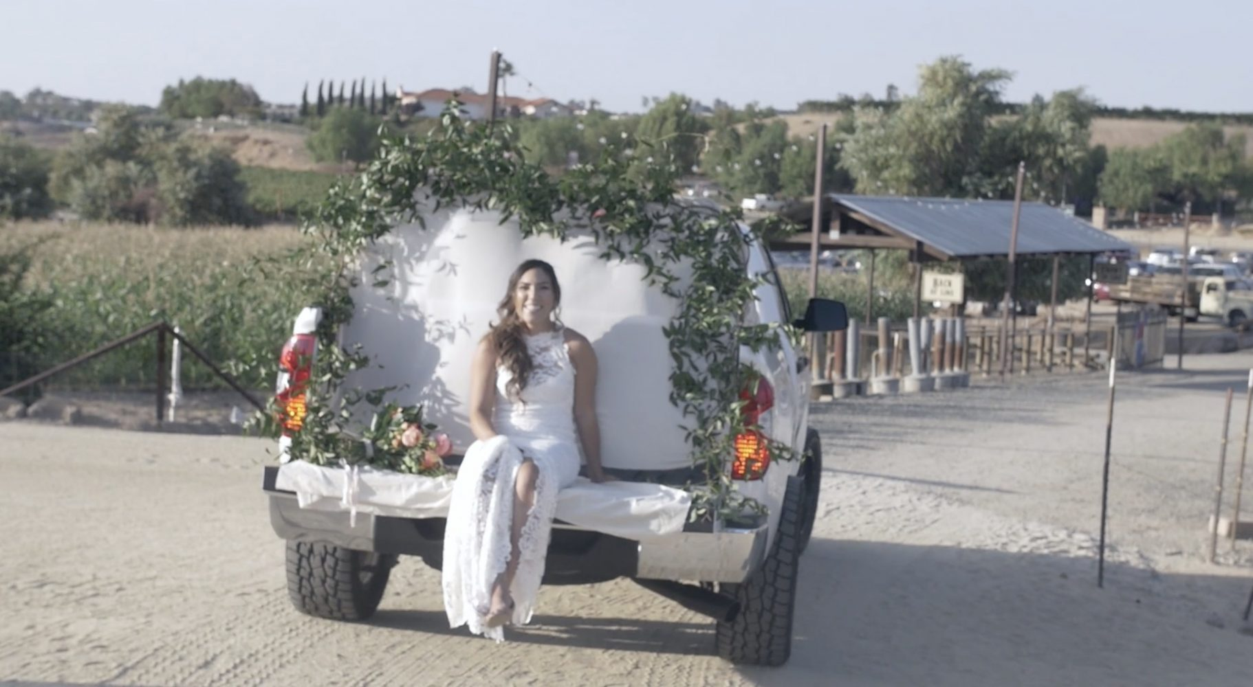 Bride's Pickup Truck Wedding Entrance Is The Best Thing You'll See All Day