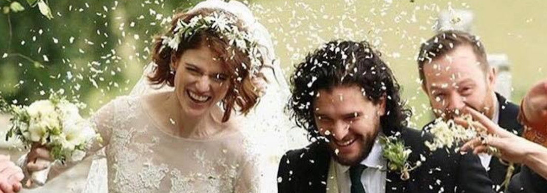 Over One Minute Of Kit Harington and Rose Lesie Wedding Footage Exists, God Bless