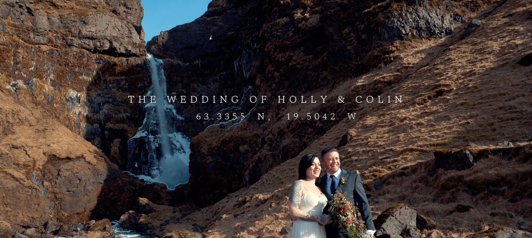 Holly + Colin | Vik, Iceland | Secret Waterfall