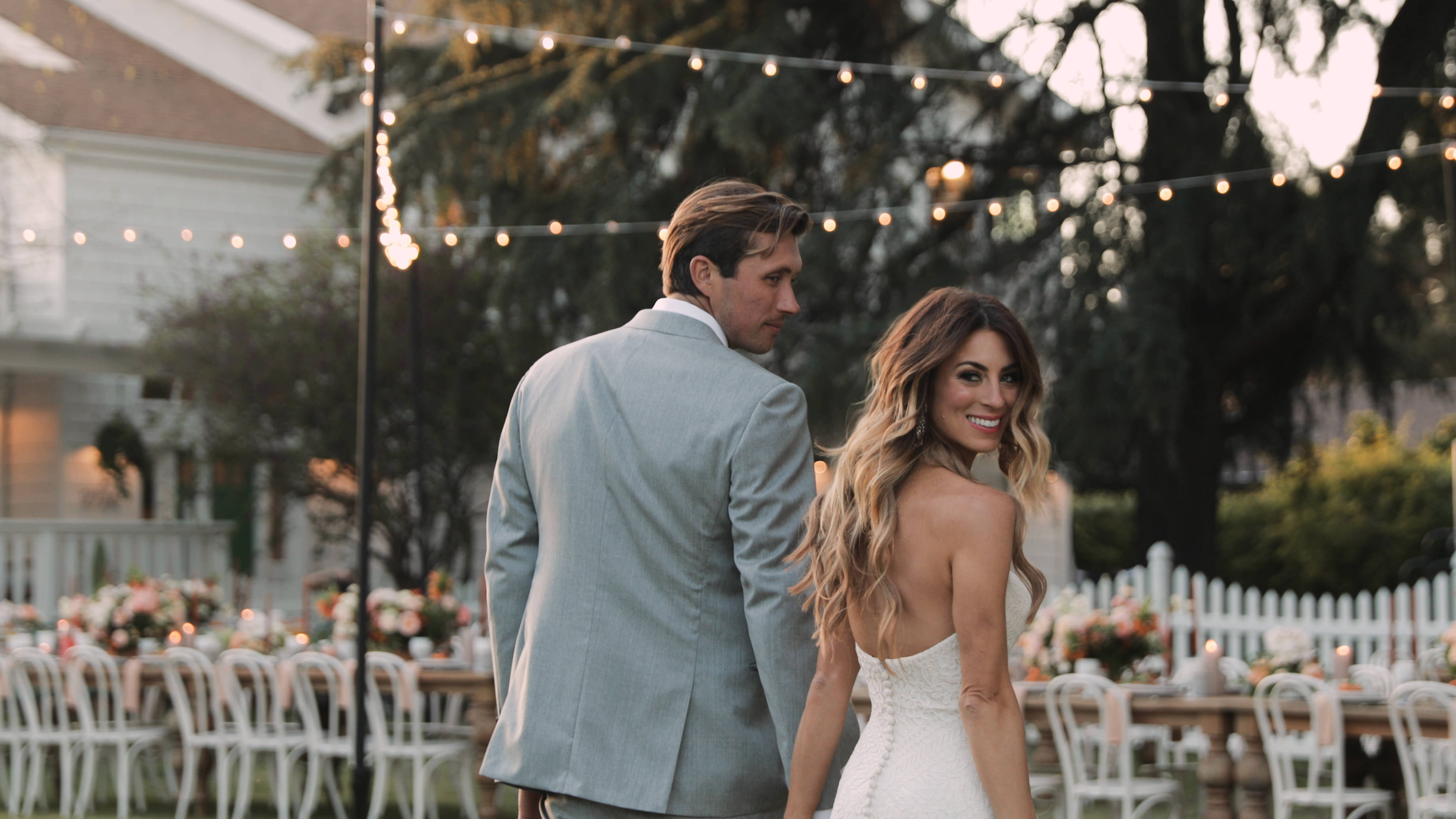 "Watch: ""The Bachelor"" Alum Tenley Molzahn's Gorgeous Backyard California Wedding"