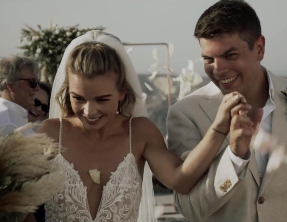 Jess + Jamie | Thera, Greece | Thermes Luxury Villas