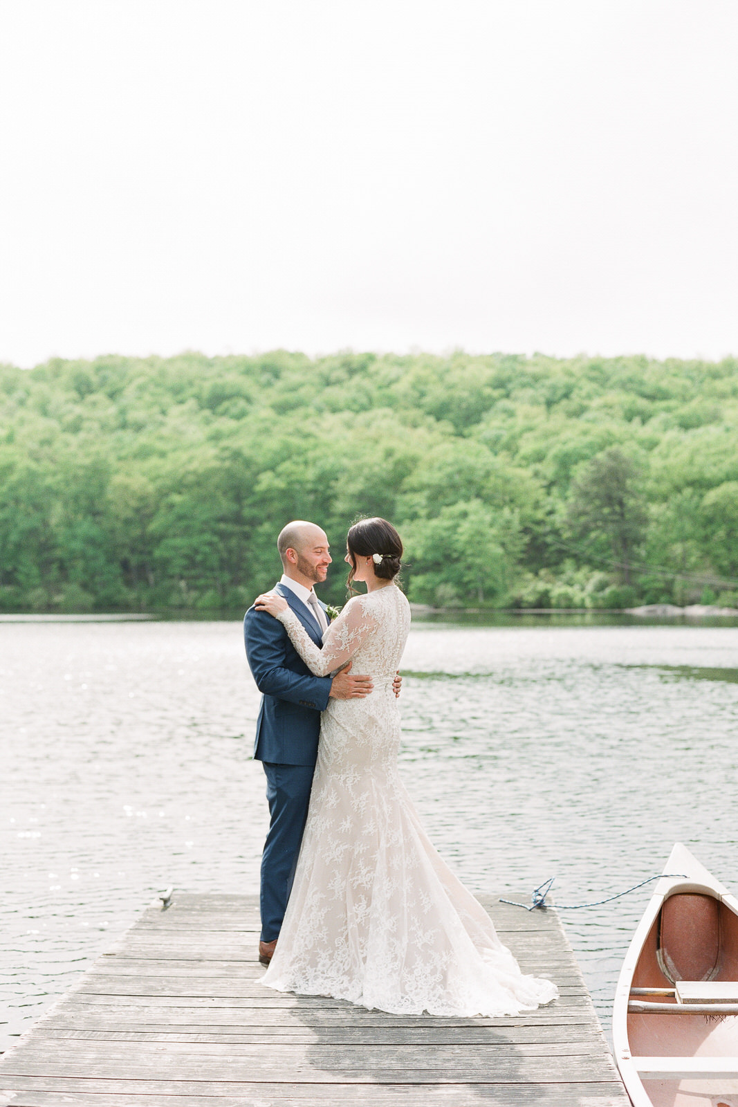 Cedar Lakes Estate, Port Jervis, New York rustic water photo bride and groom