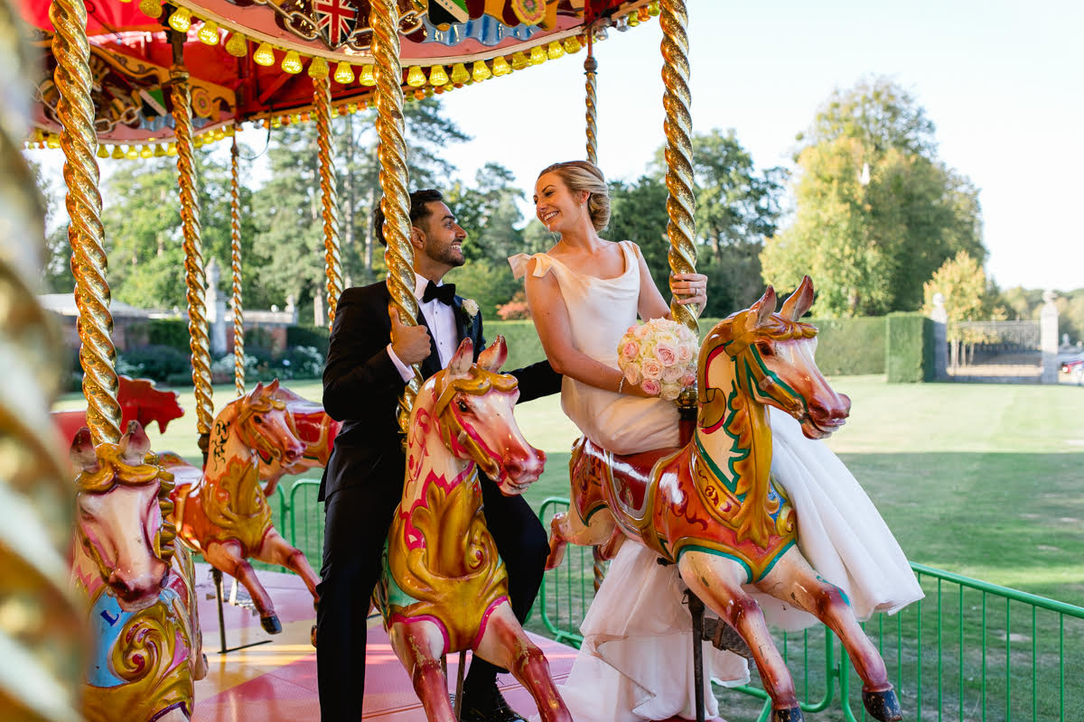 This Couple Had the Most Insane Wedding Reception, With a Carousel!