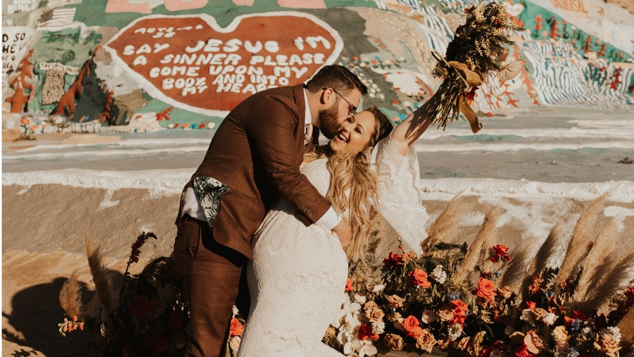 Anna + Travis | Slab City, California | Salvation Mountain