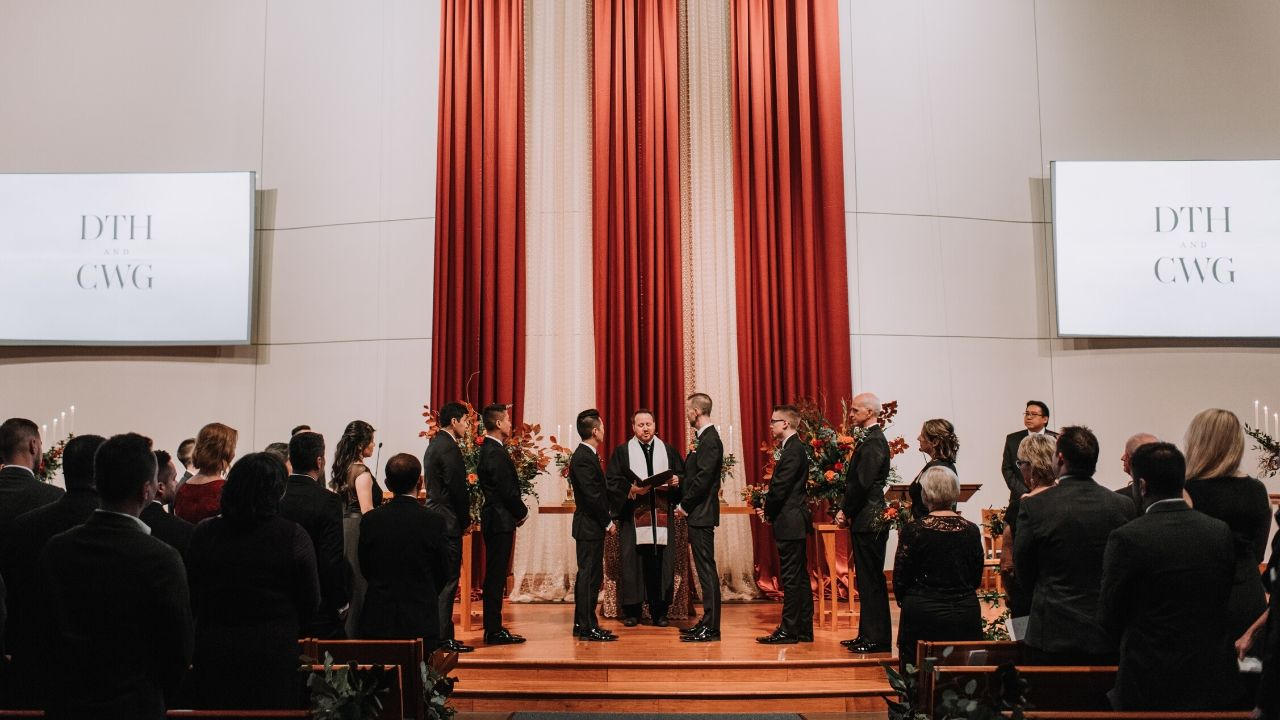 This Groom Came Out Late in Life and His Son Was His Best Man in Elegant, Modern Seattle Wedding