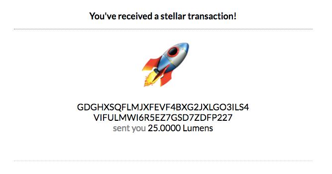 Sputnik Stellar Wallet Watcher