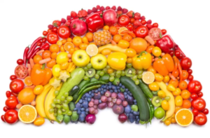 healthy food of every color