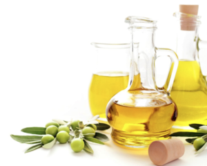 Olive Oil helps hydrate and soften the skin.