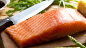 Try some salmon for healthy hair!