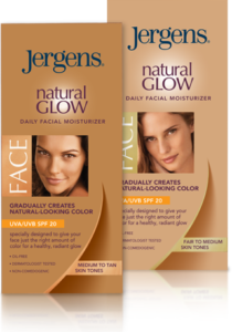 Jergens Natural Glow Healthy Complexion Daily Facial Moisturizer +SPF 20, and Jergens SPF 20 Glow and Protect Body Lotion +SPF 20