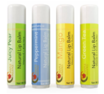 Maple Holistics Natural Tropical Therapeutic Lip Balm, 4-Pack