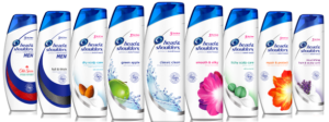 Head and Shoulders shampoos and conditioners