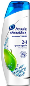 Head and Shoulders green apple shampoo and conditioner