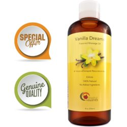 Maple Holistics Pure Natural Vanilla Edible Massage Therapist Oil